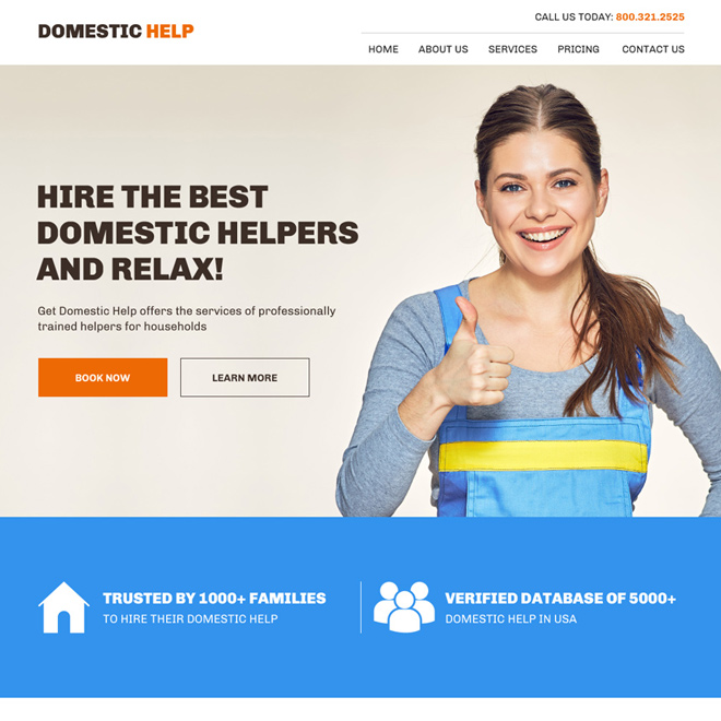 best domestic helpers agency website design Domestic Help example