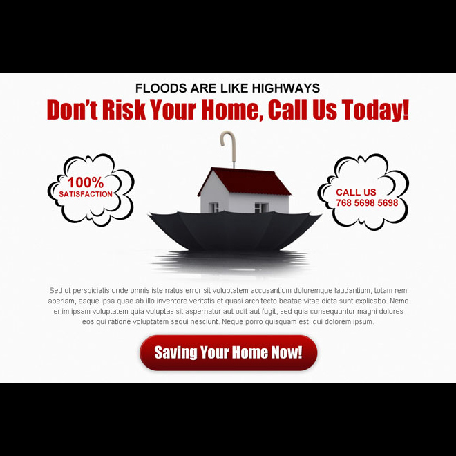 dont risk your home clean and appealing home insurance ppv landing page design Home Insurance example