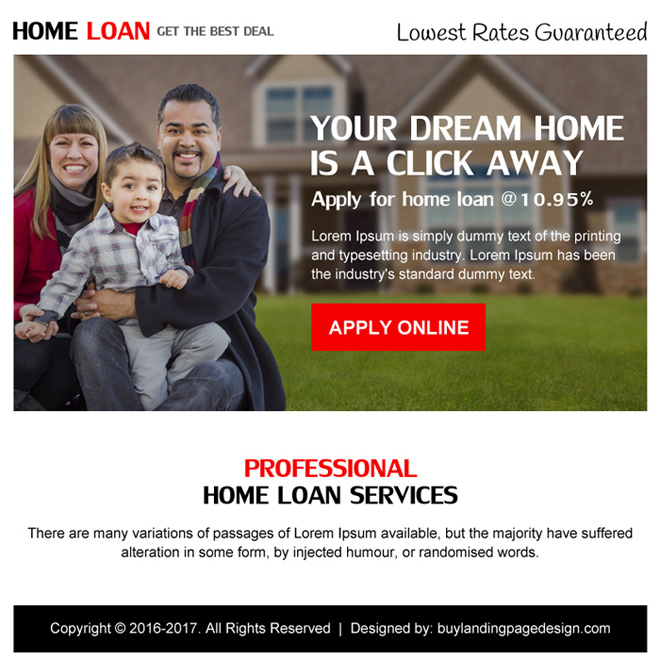 home loan best deal ppv landing page design Home Loan example