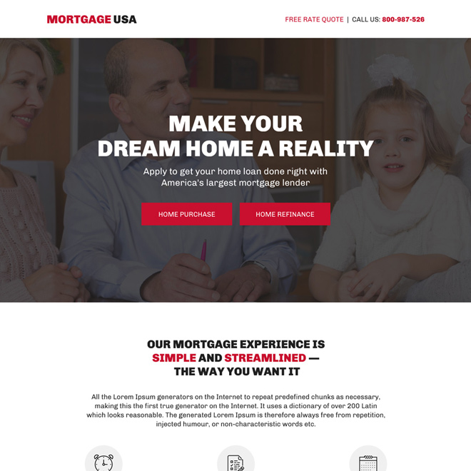 largest mortgage lender bootstrap landing page Mortgage example