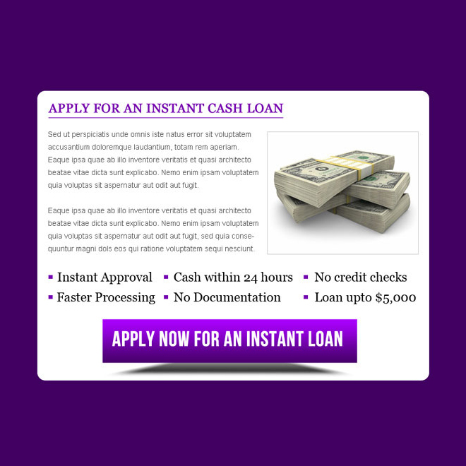 instant cash loan ppv landing page design template Loan example