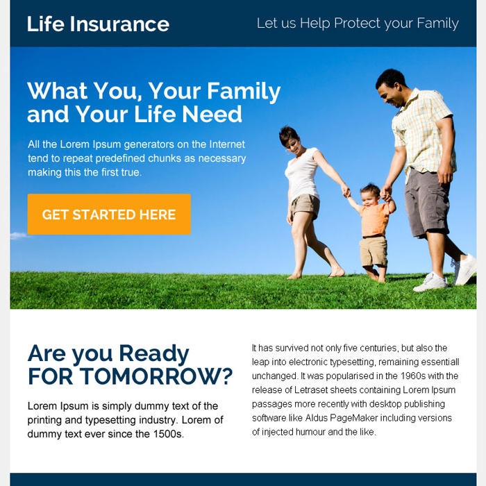 instant life insurance quote ppv landing page design Life Insurance example