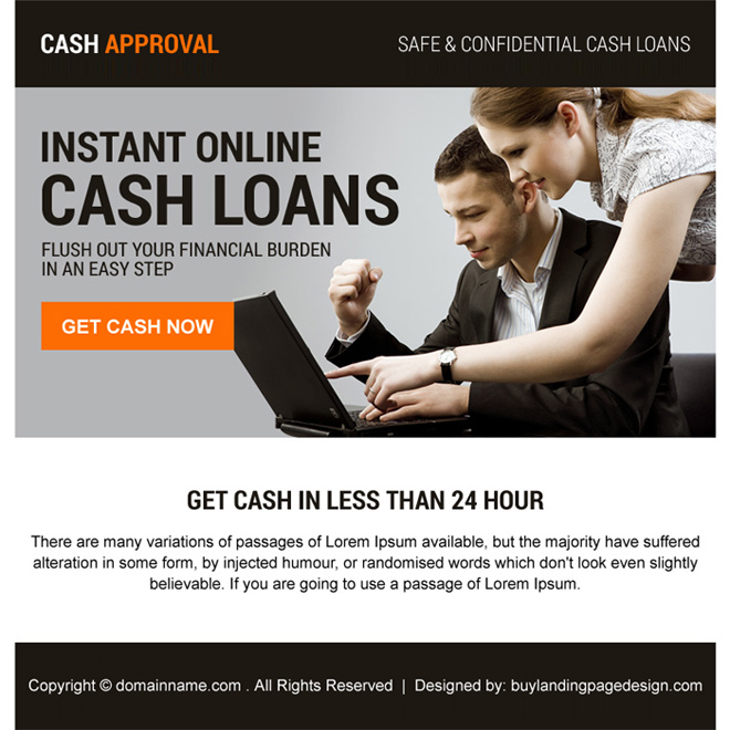 instant online cash loan call to action ppv landing page Loan example