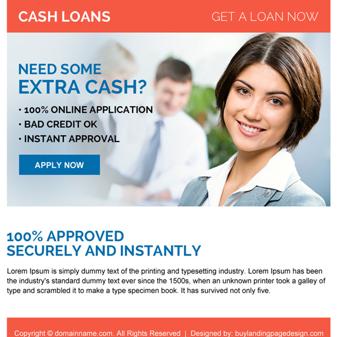 instant approval online cash loan ppv landing page design Loan example
