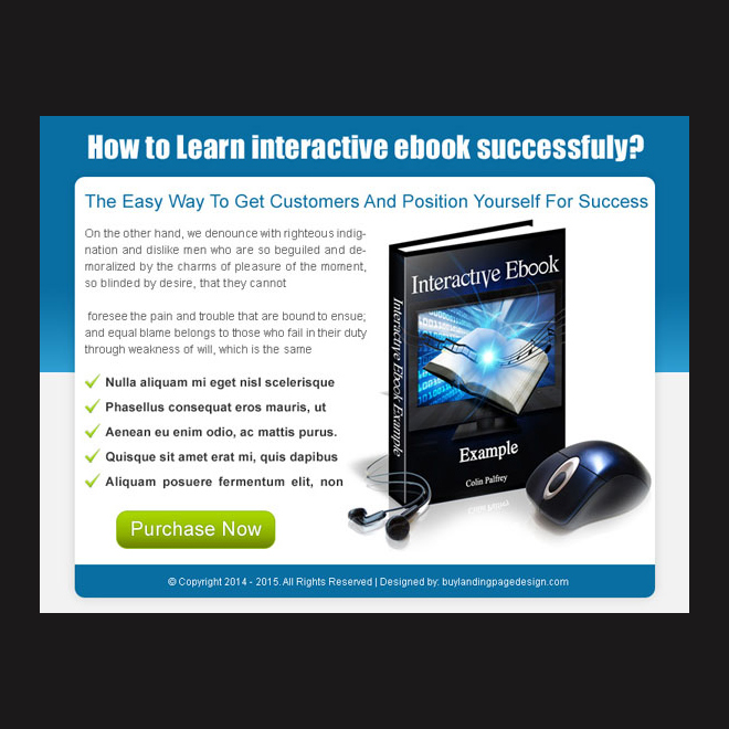 Book Landing Page Template Landing Page Design e Book