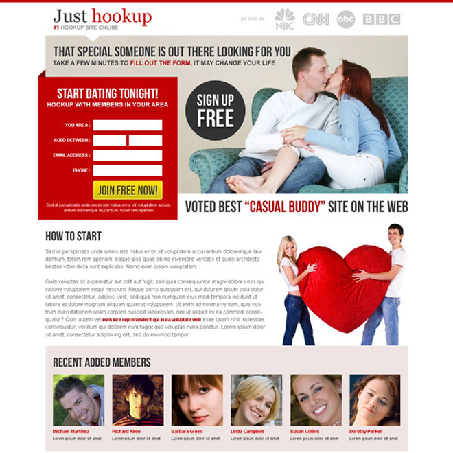the special someone is out there looking for you very appealing and attractive landing page design Dating example