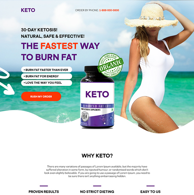 keto weight loss supplement responsive landing page design Weight Loss example