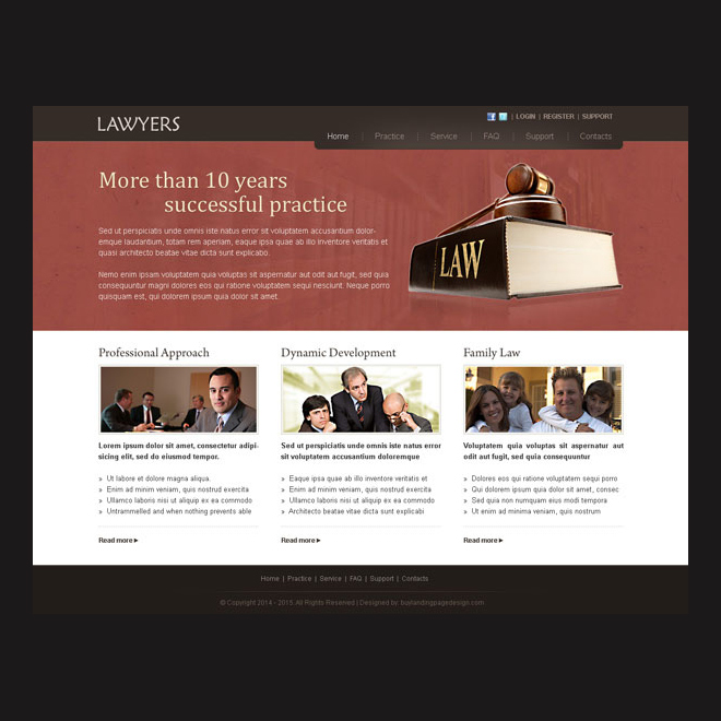 lawyers website template design psd for lawyers association Website Template PSD example