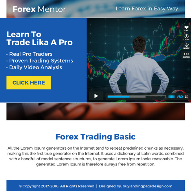 forex mentor video ppv landing page design Forex Trading example