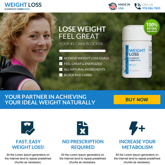 ideal weight loss modern landing page design Weight Loss example
