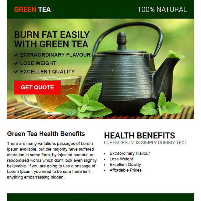 green tea health benefits ppv design Weight Loss example