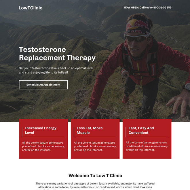 low testosterone replacement therapy responsive landing page Low Testosterone example