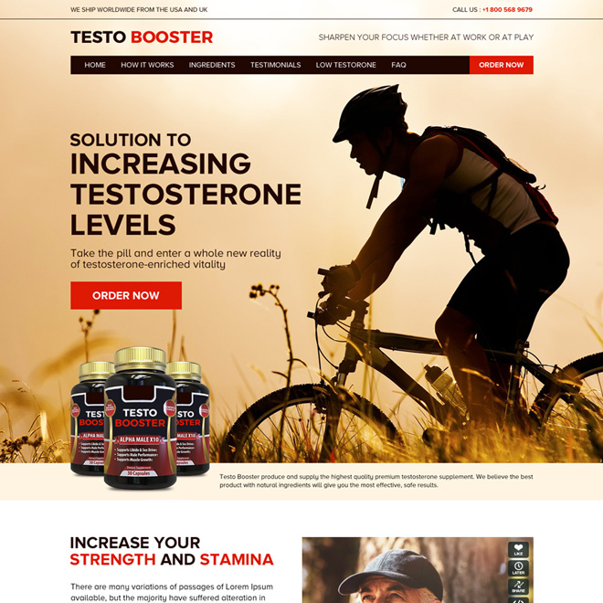 low testosterone pills selling responsive website design Low Testosterone example