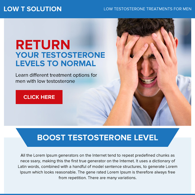 low testosterone treatment for men ppv landing page Low Testosterone example
