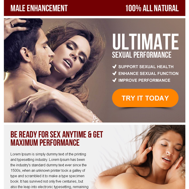 male enhancement call to action ppv landing page design Male Enhancement example