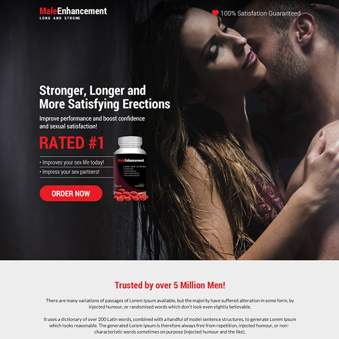 natural male enhancement supplement selling bootstrap landing page Male Enhancement example