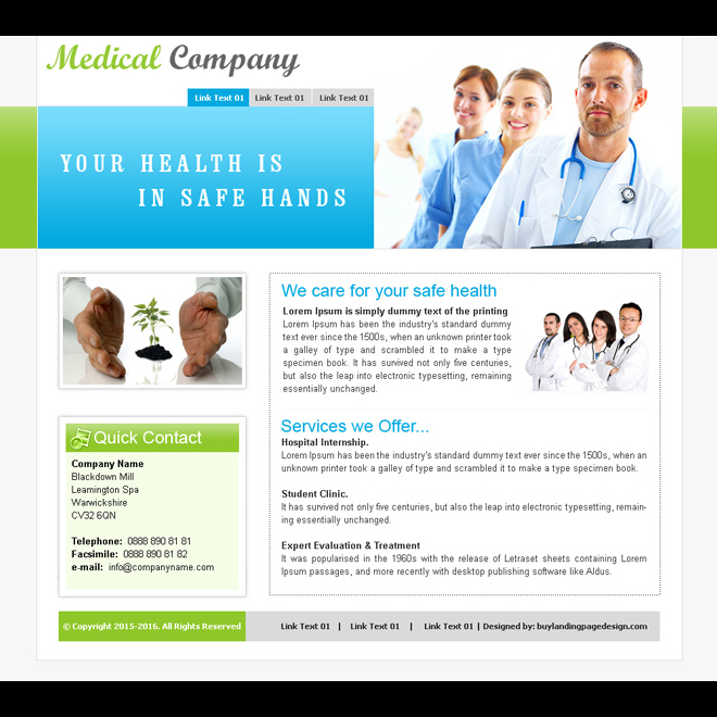medical care company website template design psd for sale Website Template PSD example
