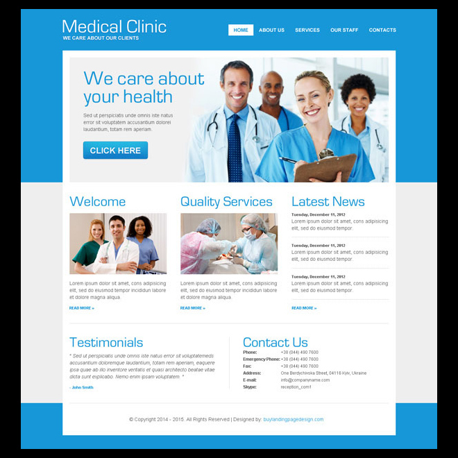 clean medical clinic effective website template psd design Website Template PSD example