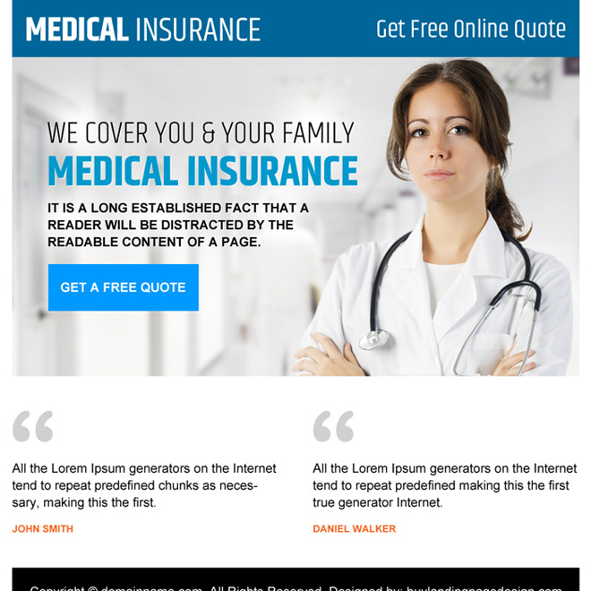 medical insurance free quote clean PPV design Health Insurance example