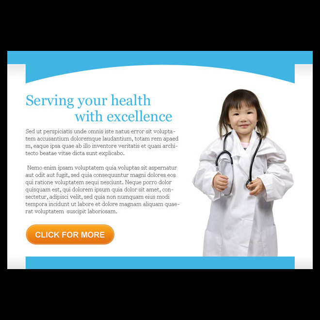 serving your health with excellence ppv landing page design Medical example