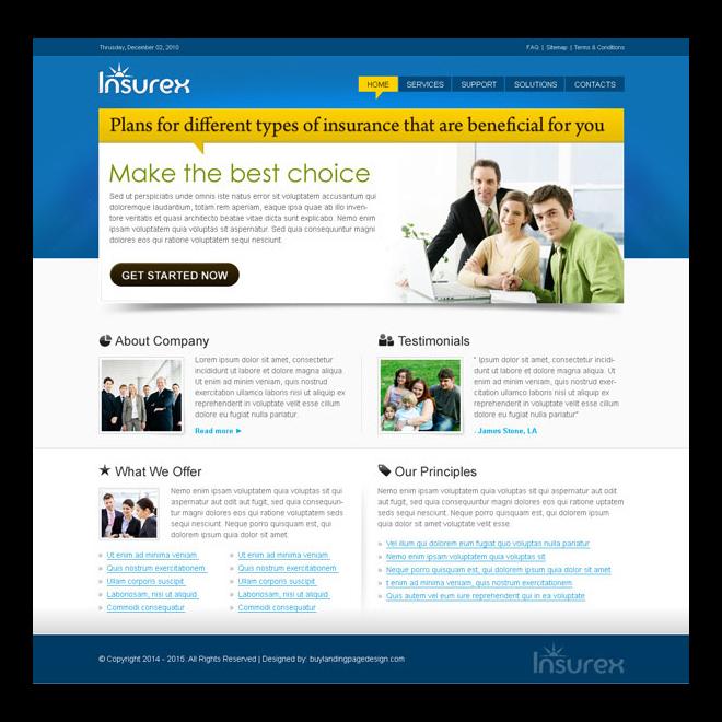 medical website converting website template design for your website Website Template PSD example