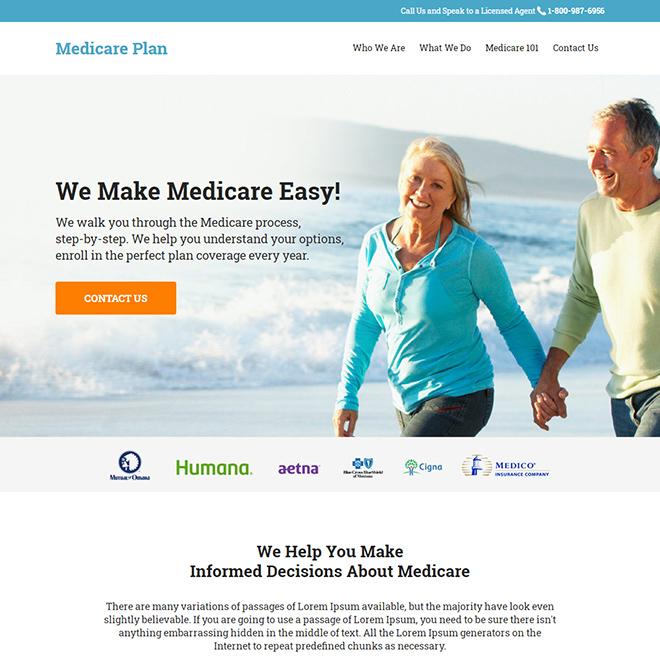 medicare supplement insurance responsive website design Medicare example