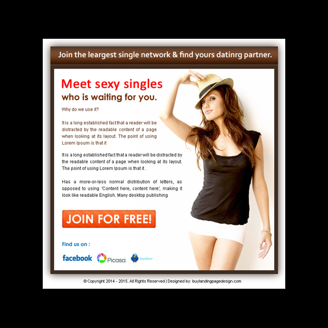 dating ppv landing page design templats