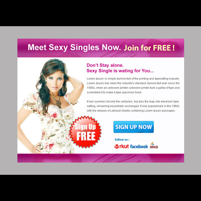 sexy single sign up lead capture ppv landing page design PPV Landing Page example