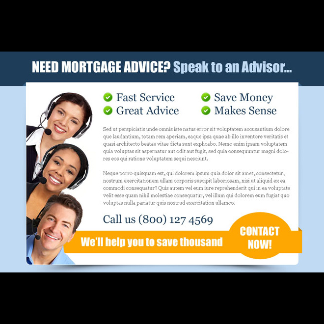 mortgage advice service appealing ppv landing page design template Mortgage example