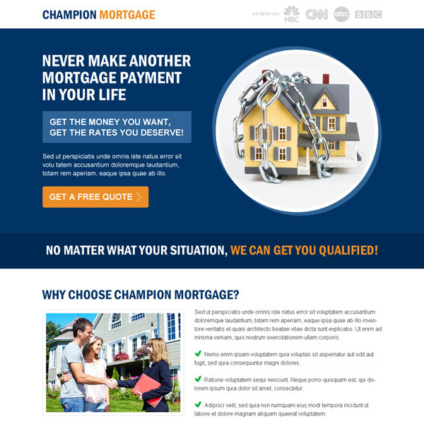 champion mortgage responsive landing page design to boost your conversion rate Mortgage example