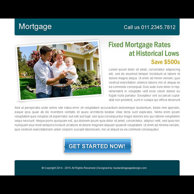 fixed mortgage rates effective ppv landing page design Mortgage example