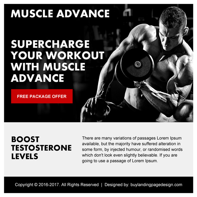 muscle building free package ppv landing page Bodybuilding example
