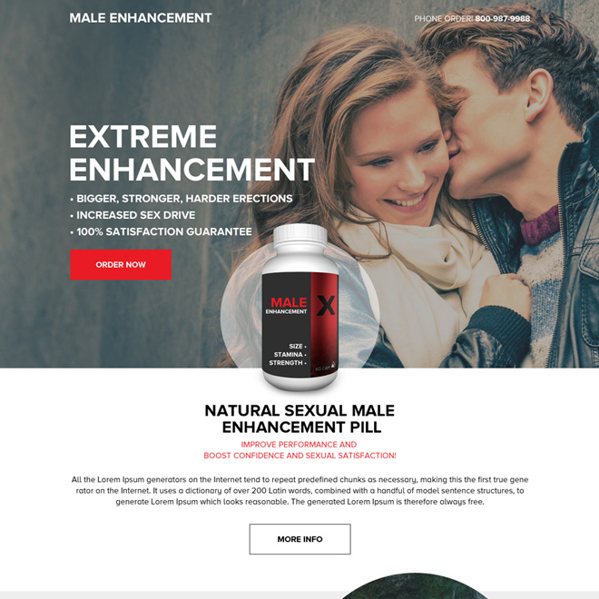 male enhancement pills selling modern landing page design Male Enhancement example