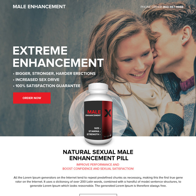 responsive male enhancement pills selling minimal landing page Male Enhancement example