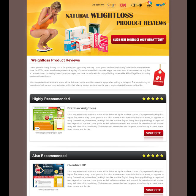 Best Converting And Effective Landing Page Designs For Sale Page