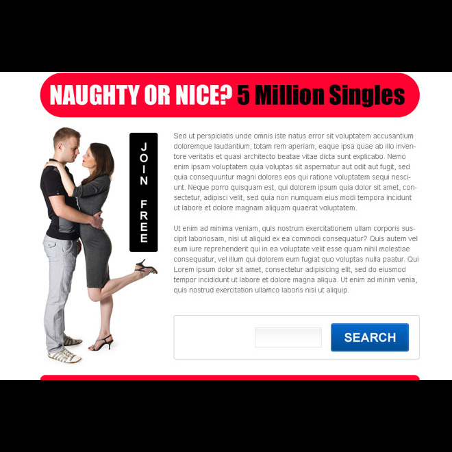 singles are waiting for you appealing dating ppv landing page design Dating example