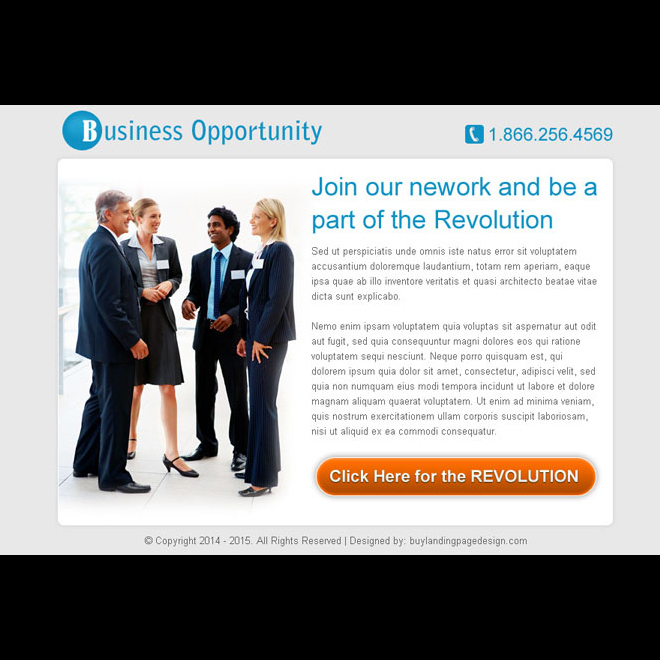 business opportunity network simple and effective ppv landing page design PPV Landing Page example