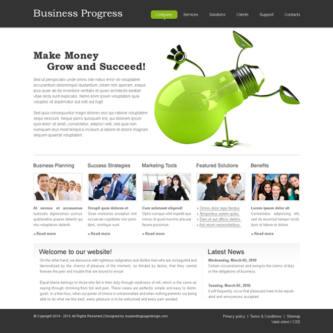 create your business website with our online business website template psd Website Template PSD example
