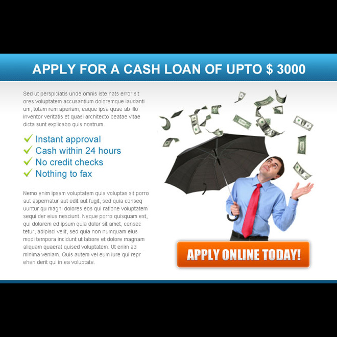 apply for a online cash loan converting ppv landing page design Loan example