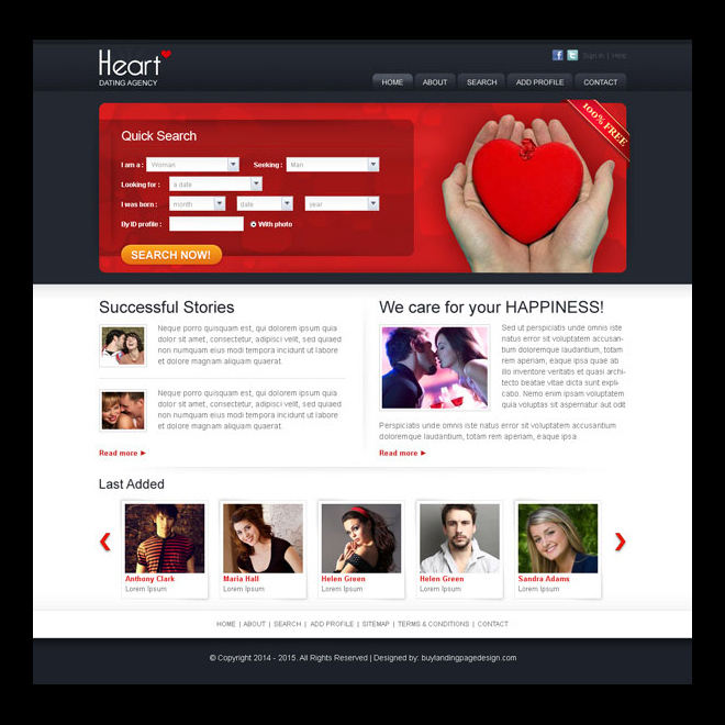clean quick search website template design psd for online dating agency website template psd example. Black Bedroom Furniture Sets. Home Design Ideas