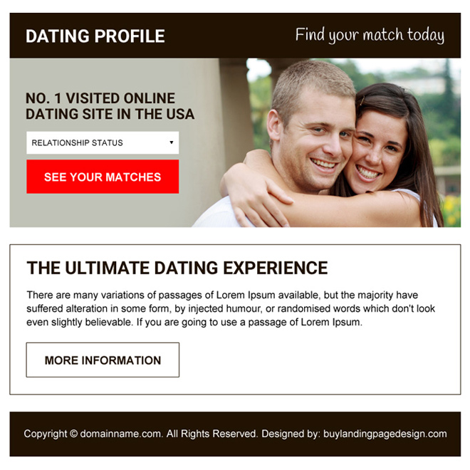 professional online dating ppv landing page design Dating example