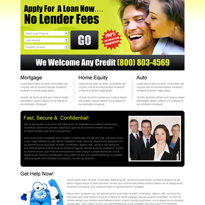 online loan lead capture landing page to boost your conversion Loan example