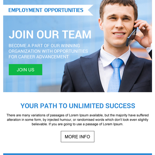 employment opportunity simple ppv landing page design Employment Opportunity example