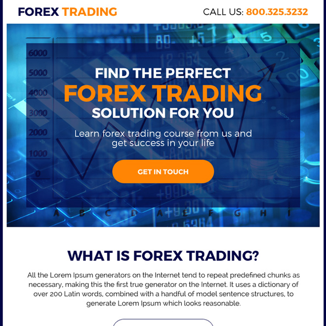 perfect forex trading solution ppv landing page design Forex Trading example