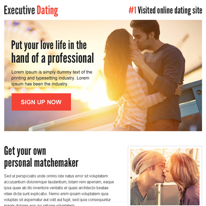 personal match maker sign up lead capture ppv landing page Dating example