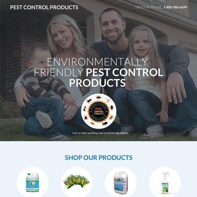 pest control product selling mini responsive landing page Pest Control example