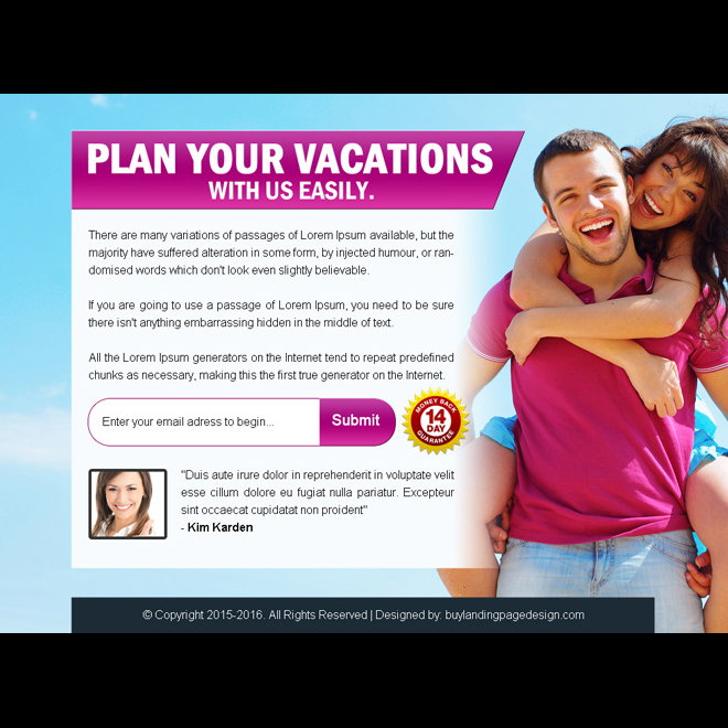 plan your vacations with us easily ppv landing page design PPV Landing Page example