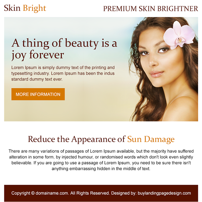 premium skin brightener PPV design Skin Care example