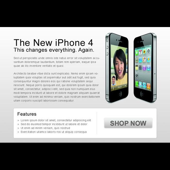 clean and effective i-phone 4 buy now ppv landing page design Miscellaneous example