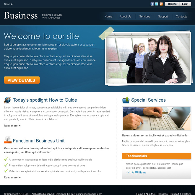 professional business website template design psd for sale Website Template PSD example